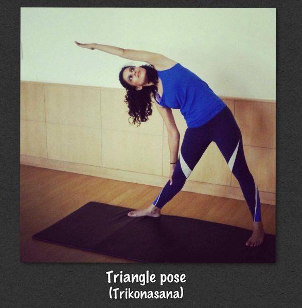 Triangle pose -